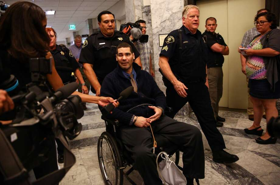Convicted cop killer Christopher Monfort is wheeled from a Seattle courtroom on July 23 after a King County jury decided he shouldn't face a death sentence.  Photo: JOSHUA TRUJILLO, SEATTLEPI.COM