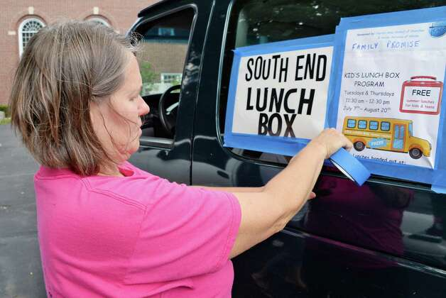 Capital Area Council of Churches' Linda Marchner prepares a van for their Mobile lunch program at First Lutheran Church Thursday July 23, 2015 in Albany, NY.  (John Carl D'Annibale / Times Union) Photo: John Carl D'Annibale / 00032723A
