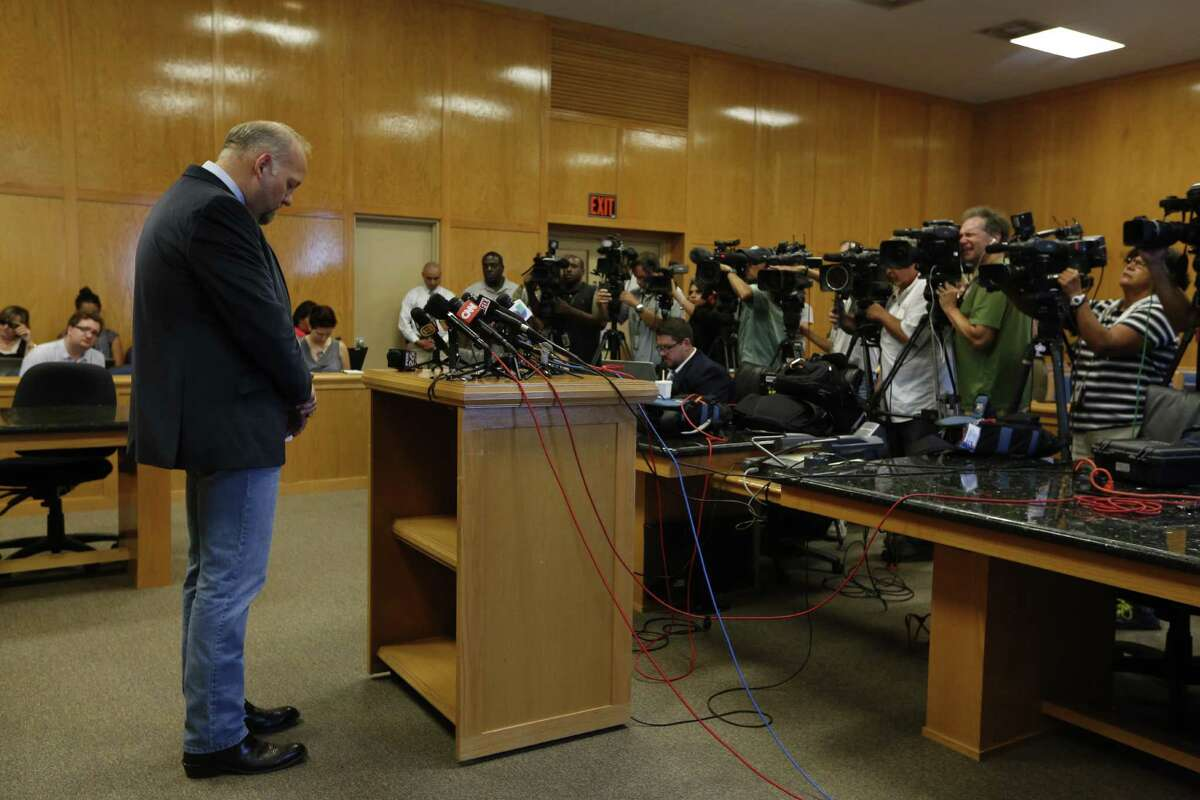 """Waller County District Attorney Elton Mathis starts out a news conference Thursday with a moment of silence for Sandra Bland. """"The irony of Ms. Bland's death here in a small, southern Texas jail, is not lost on me,"""" Mathis said."""