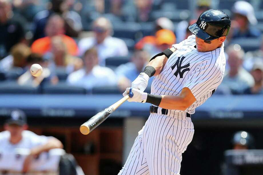 NEW YORK, NY - JULY 23:  Jacoby Ellsbury #22 of the New York Yankees hits a two run double in the fifth inning against the Baltimore Orioles at Yankee Stadium on July 23, 2015 in the Bronx borough of New York City.  (Photo by Mike Stobe/Getty Images) ORG XMIT: 538587175 Photo: Mike Stobe / 2015 Getty Images