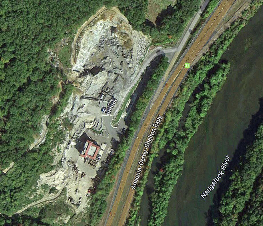 The Haynes quarry is located on Derby Avenue, off Route 8, in Seymour. Photo: Google Earth Image