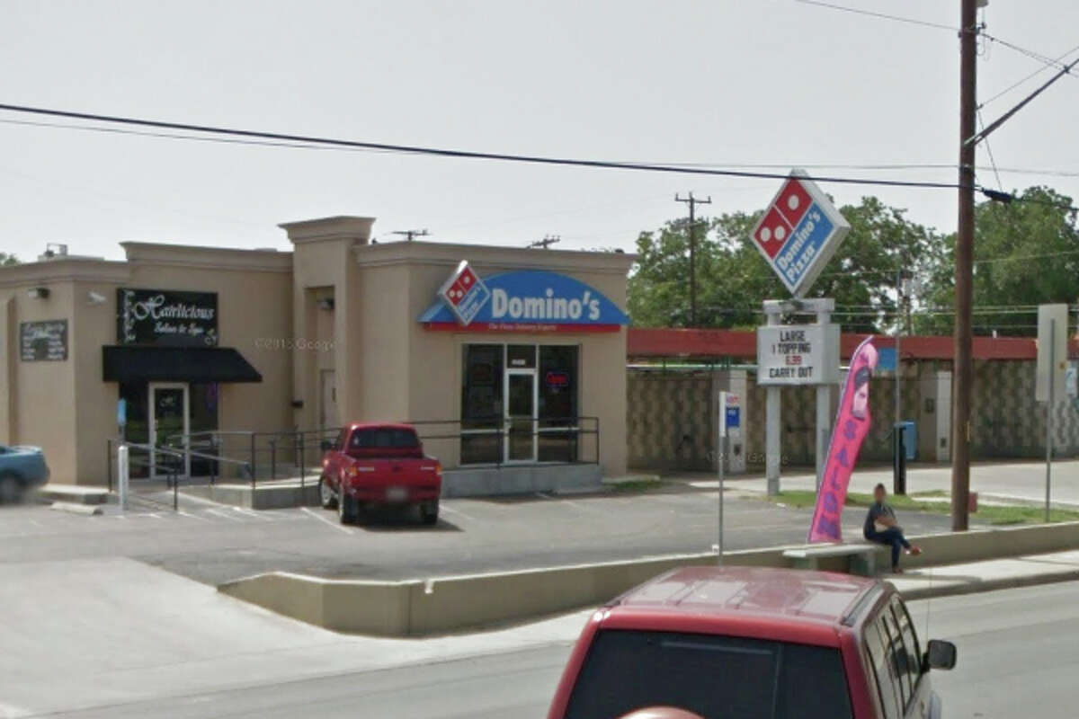 Dominos Pizza: 1425 Pleasanton Road, San Antonio, TX 78221Date: 12/14/2015 Demerits: 14Highlights: Employee did not wash hands properly, toxic chemicals stored near food (Elmer's glue found near food containers), employees' personal food items found near food areas