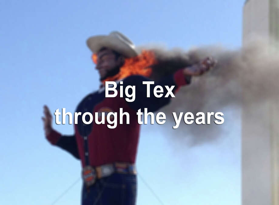 From the devastating fire in 2012 to its installment in 1981, here are photos of the iconic Big Tex through the years. Photo: John McKibben, AP Photo/John McKibben / The Associated Press2012