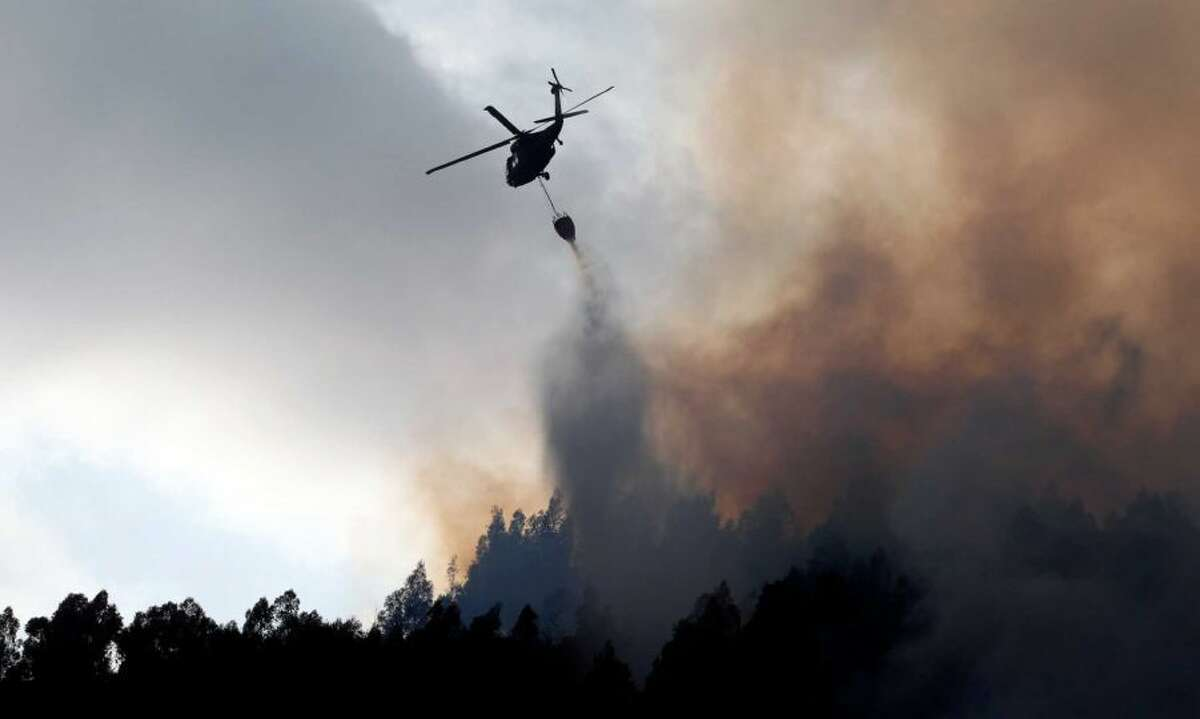 Huge forest and brush fires in the West are a product of climate change, as the winter snow pack shrinks and temperatures get hotter earlier in the year..