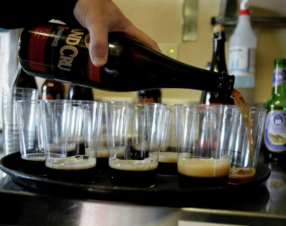 "Grand Cru, a Belgian ""sour"" beer. Photo: Brant Ward / The Chronicle / ONLINE_YES"