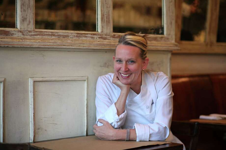 "Pictured: chef Gabrielle Hamilton at her restaurant Prune in NYC. Hamilton's cookbook ""Prune"" is the closest thing to the bulging loose-leaf binder, stuck in a corner of almost every restaurant kitchen. Photo: FRED R. CONRAD /New York Times / NYTNS"