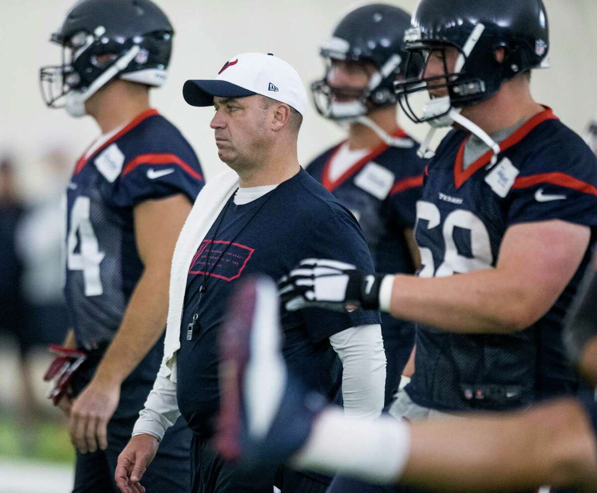 Texans head coach Bill O'Brien will get to work his players out on the field in the second phase of the offseason program.Click through the gallery to see the Texans' 2016 salary-cap figures.