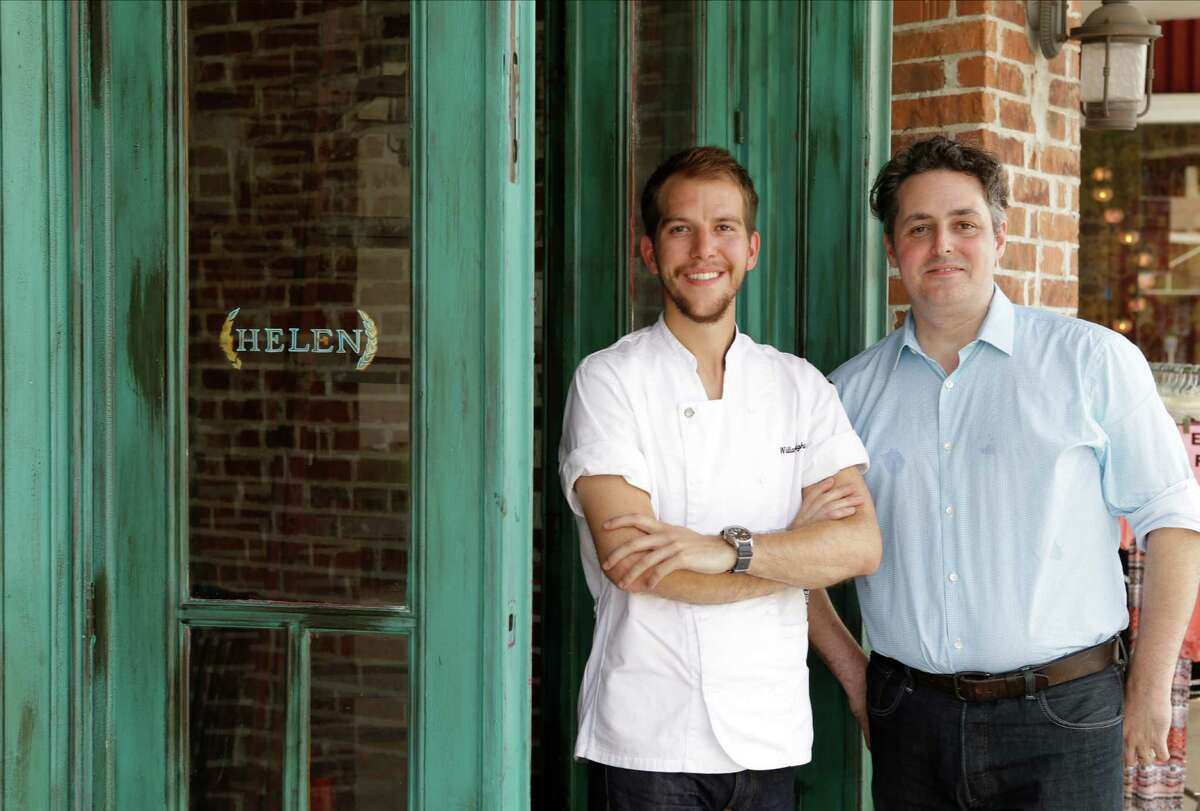 William Wright, left, is the executive chef and Evan Turner is the co-owner of Helen Greek Food and Wine in Rice Village. The team behind Helen Greek Food and Wine will rebrand Arthur Ave Italian American in the Heights as a traditional Greek taverna called Helen in the Heights.