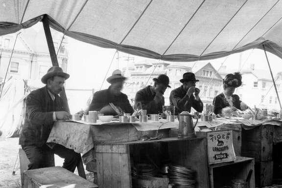 Refugee Camp Restaurant in 1906.