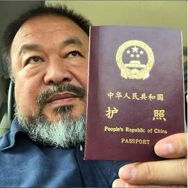 Ai Weiwei with his passport