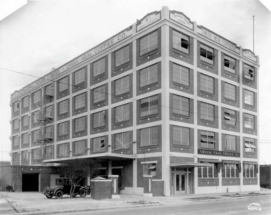 A historic photo of the Cheek-Neal Coffee building. The building was just named a protected landmark by the city.