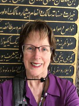 Janet Navilhon, of Pleasant Hill, standing in front of the Harem at the Topkapi Palace.