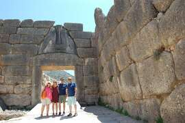 Michele, Katie, Gregory & Rick Gandolfo, of San Francisco, at Lions Gate, Ancient Mycenae, Greece.