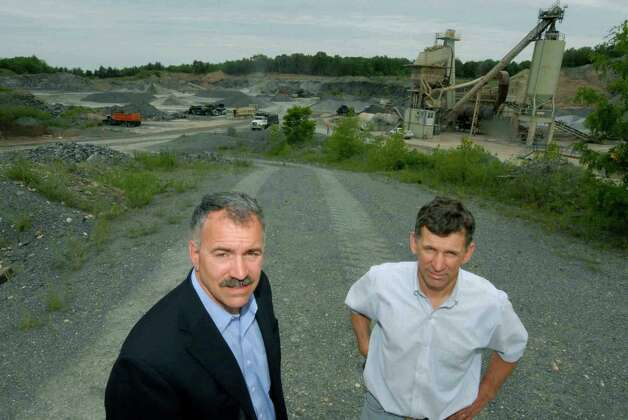 Andy, left, and Jude Clemente two of the owners of Troy Sand and Gravel Co. June 3, 2009, in Sand Lake, N.Y.  (Michael P. Farrell/Times Union archive) Photo: MICHAEL P. FARRELL / 00004154A