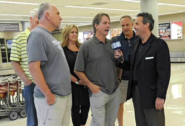 Comedian and television personality Jeff Foxworthy arrives at the Albany International Airport on his way to Cooperstown for the Hall of Fame weekend on Thursday, July 24, 2015 in Albany, N.Y. His friend John Smoltz is being inducted this year. (Lori Van Buren / Times Union) Photo: Lori Van Buren / 00032750A