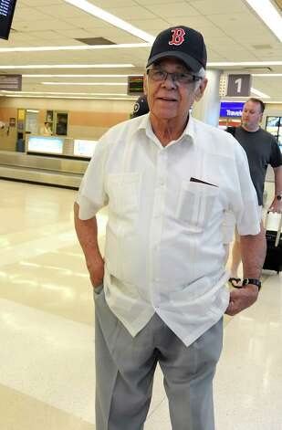 Hall of famer Luis Aparicio arrives at the Albany International Airport on his way to Cooperstown for Hall of Fame weekend on Thursday, July 24, 2015 in Albany, N.Y.  (Lori Van Buren / Times Union) Photo: Lori Van Buren / 00032750A