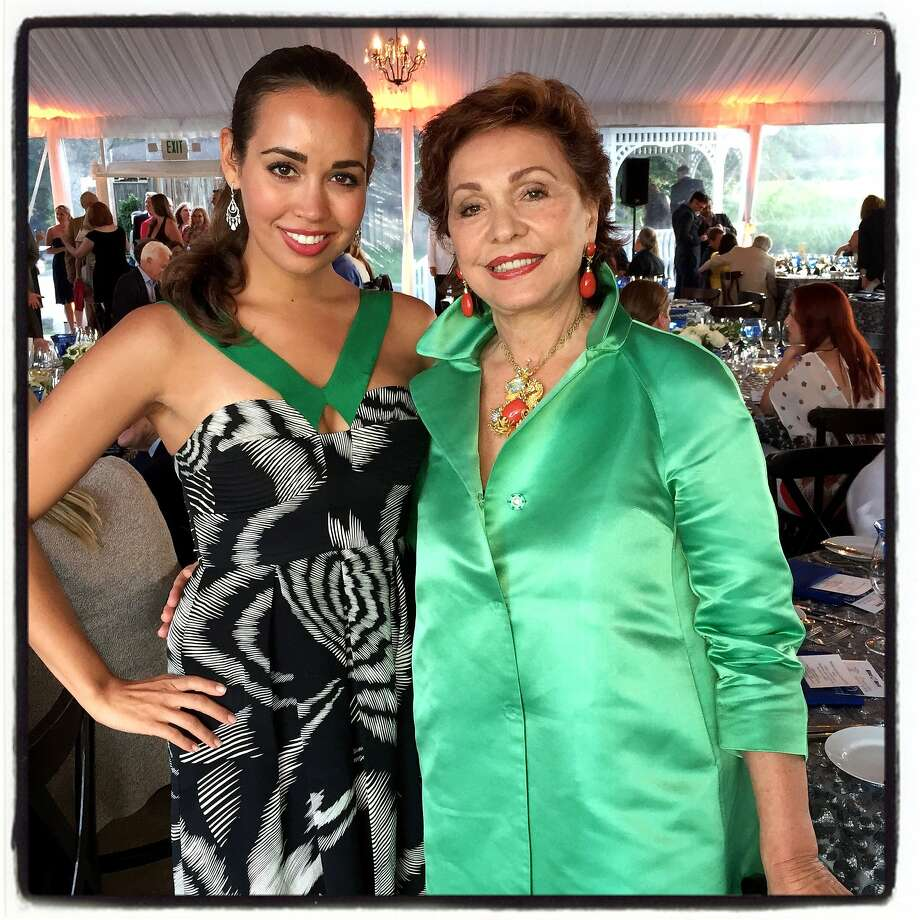 Soprano Nadine Sierra (left) with FDS supporter and fan Maria Manetti Shrem at Far Niente Winery. July 2015. Photo: Catherine Bigelow, Special To The Chronicle