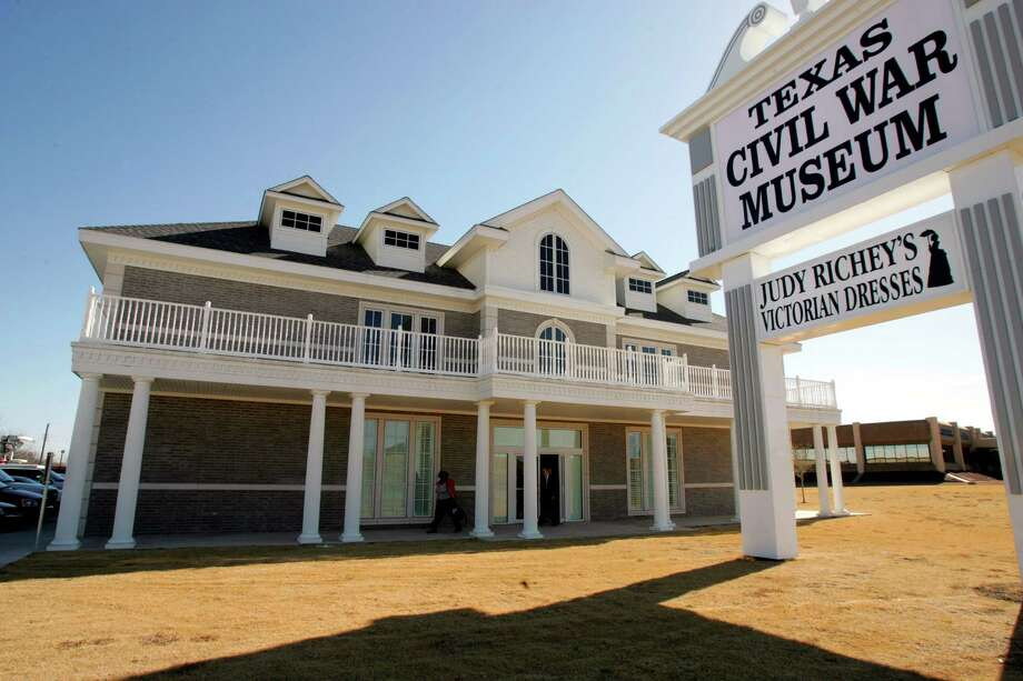 The Texas Civil War Museum in Fort Worth may be the next home for plaques from Bexar County including a 1956 tribute to the Vance House frequented by Robert E. Lee before the Civil War. Photo: Donna McWilliam /Associated Press / AP