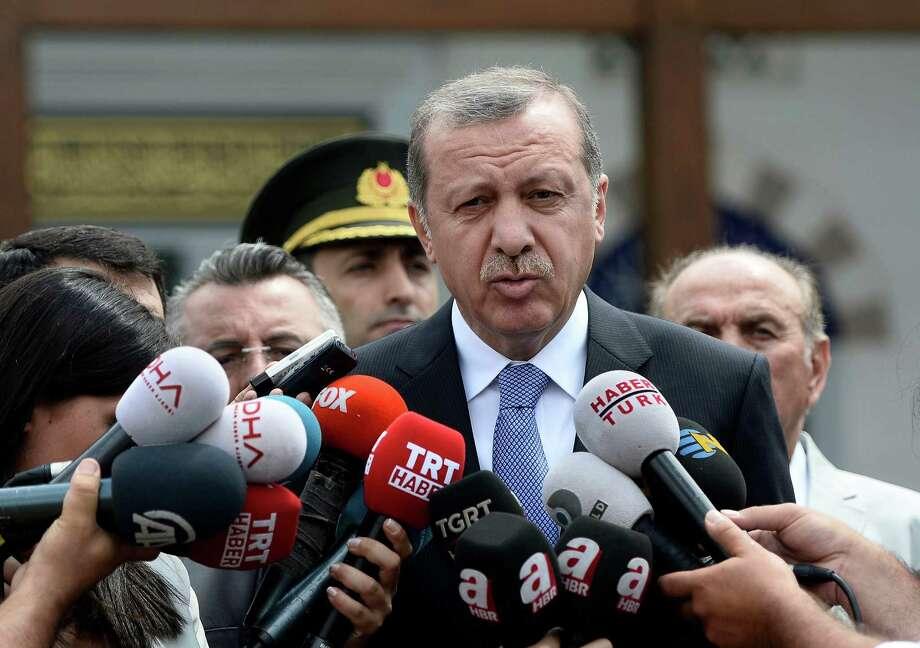 Turkish President Recep Tayyip Erdogan warns militants. Photo: /Associated Press / AP