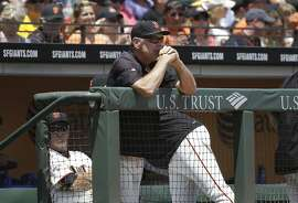 San Francisco Giants manager Bruce Bochy against the Philadelphia Phillies during a baseball game in San Francisco, Sunday, July 12, 2015. (AP Photo/Jeff Chiu)