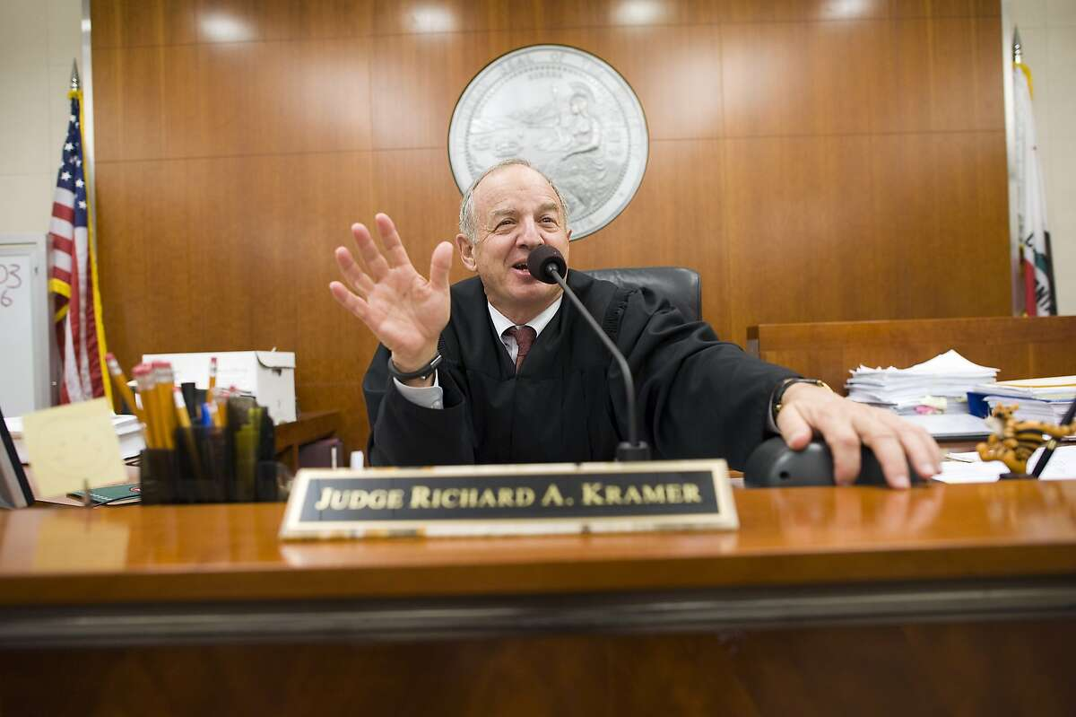 San Francisco Superior Court Judge Richard Kramer presides over a hearing for a civil trial in his courtroom in San Francisco, California Wednesday, August 7, 2013.