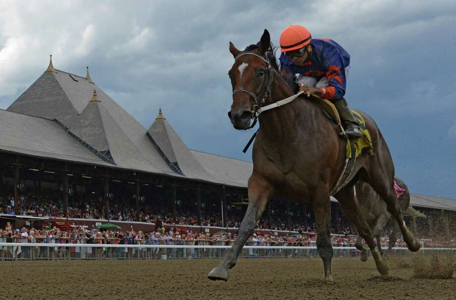 Off the Tracks with jockey Luis Saez wins the Grade 3 Schuylerville Stakes at the Saratoga Race Course Friday afternoon July 24, 2015 in Saratoga Springs, N.Y.  (Skip Dickstein/Times Union) Photo: SKIP DICKSTEIN