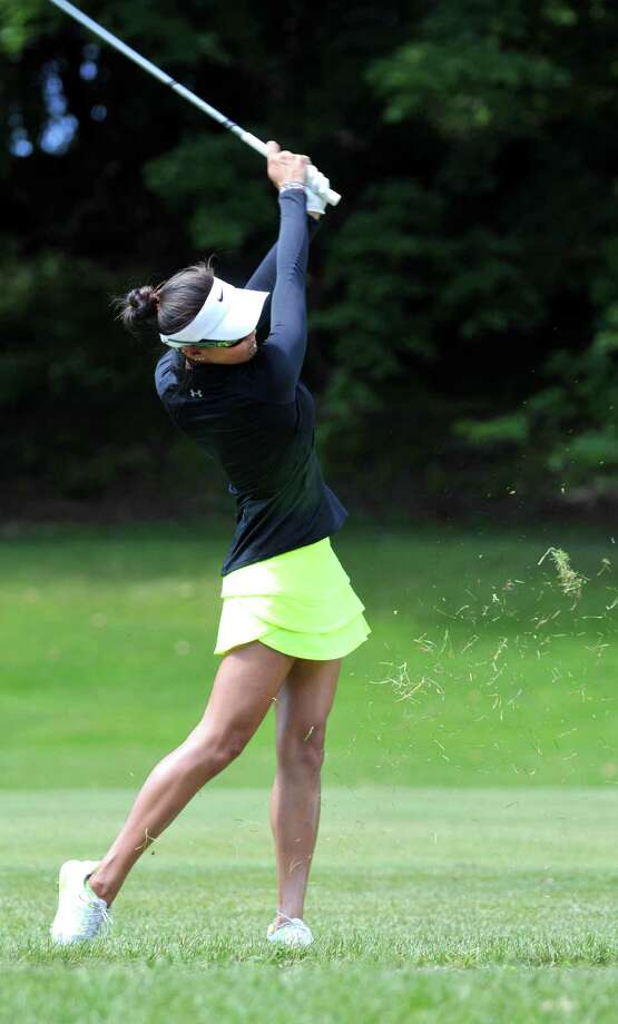 Jessy Tang hits to the green during the first round of the Fuccillo Kia Championship Friday, July 24, 2015, at Capital Hills Golf Course in Albany, N.Y. (Phoebe Sheehan/Special to The Times Union). Photo: PS / 00031823A