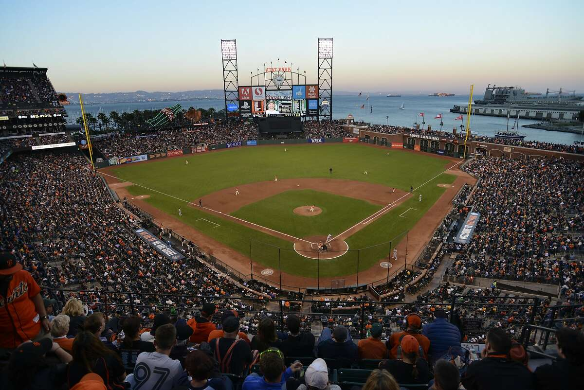 AT&T Park fills with Giants and A's fans during the San Francisco Giants versus the Oakland A's game in San Francisco, California, on Friday, July 24, 2015.