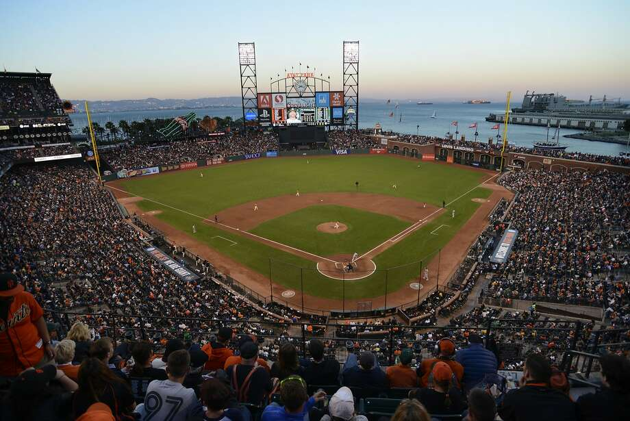 AT&T Park fills with Giants and A's fans during the San Francisco Giants versus the Oakland A's game in San Francisco, California, on Friday, July 24, 2015. Photo: Brandon Chew, The Chronicle