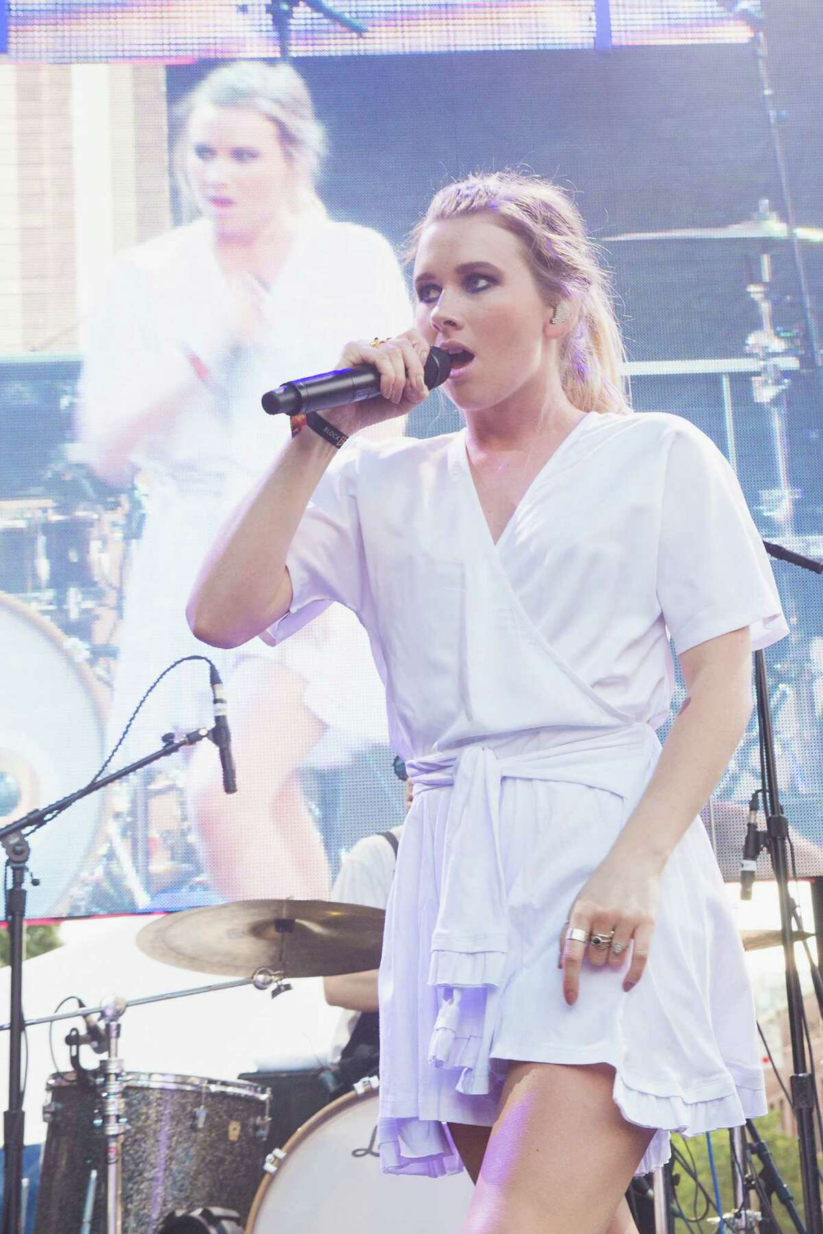 Georgia Nott of Broods performs on stage during the Capitol Hill Block Party on July 24, 2015 in Seattle.