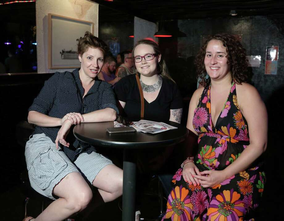 "Fans pose for a photo at a screening of the film ""Power Erotic"" at Ripcord Saturday, July 25, 2015, in Houston. The screening is part of the 19th Annual Houston International LGBTQ Film Festival. Photo: Jon Shapley, Houston Chronicle / © 2015 Houston Chronicle"