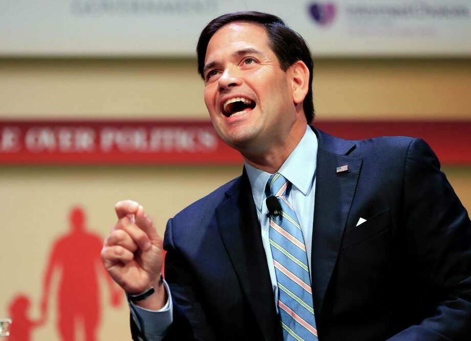 """Republican presidential candidate Sen. Marco Rubio of Florida says, """"No one running has more experience on the issues we face right now."""" Photo: Nati Harnik /Associated Press / AP"""