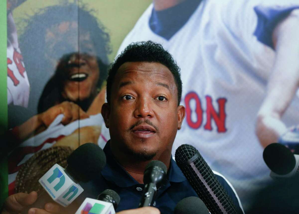 """Pedro Martinez said Saturday he had no problem facing hitters in baseball's juiced era. """"Hey, enough of the whining,"""" he said. """"Let's just play ball."""""""