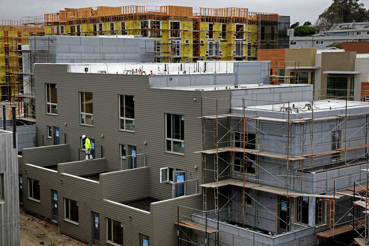 Construction on Lennar Urban's enormous Shipyard housing development continues in San Francisco's Hunters Point.