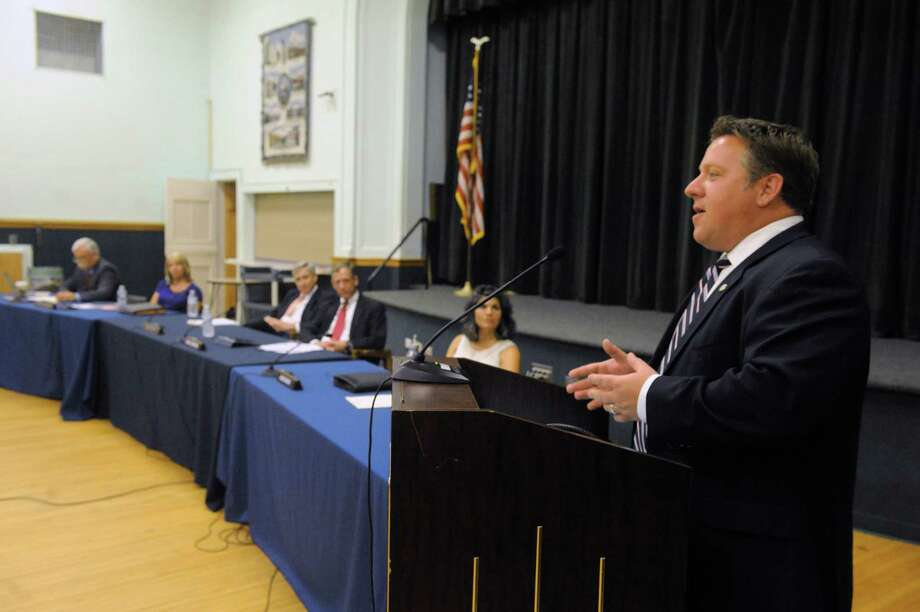Albany County Executive Dan McCoy delivers his state of the county address at the Bethlehem town board meeting on Wednesday July 8, 2015 in Delmar, N.Y. (Michael P. Farrell/Times Union) Photo: Michael P. Farrell / 00032506A