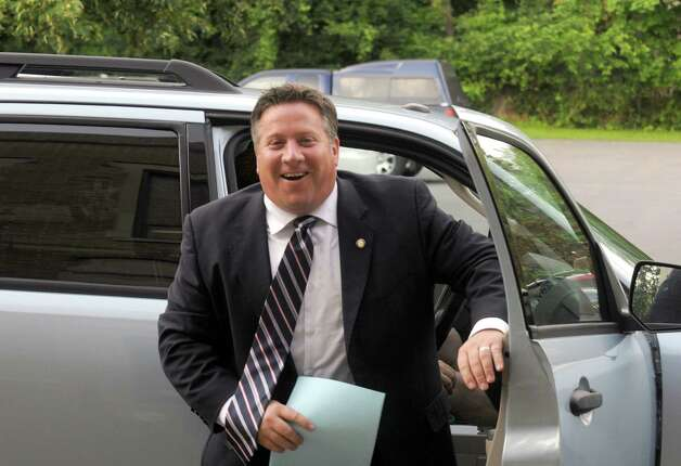 Albany County Executive Dan McCoy arrives at Bethlehem Town Hall to deliver his state of the county address at the town board meeting on Wednesday July 8, 2015 in Delmar, N.Y. (Michael P. Farrell/Times Union) Photo: Michael P. Farrell / 00032506A