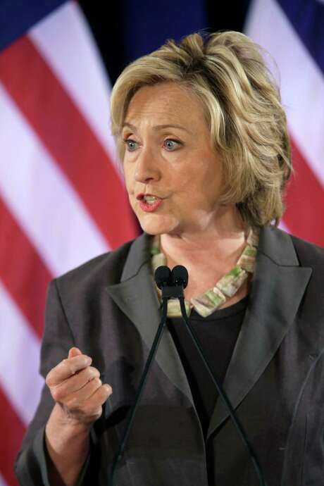 Democratic presidential hopeful Hillary Rodham Clinton speaks, Friday, July 24, 2015, at the New York University Leonard N. Stern School of Business in New York. (AP Photo/Mary Altaffer) Photo: Mary Altaffer, STF / AP