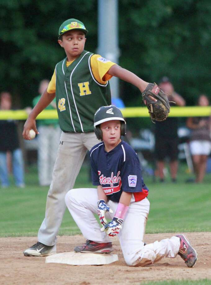 Stamford North defeated Hamden 14-4 in a Division 1 Little League semifinal game in Stamford on Saturday, June 25, 2015, advancing to Sunday's championship final against Fairfield American. Photo: Matthew Brown, For Hearst Connecticut Media / Connecticut Post Freelance