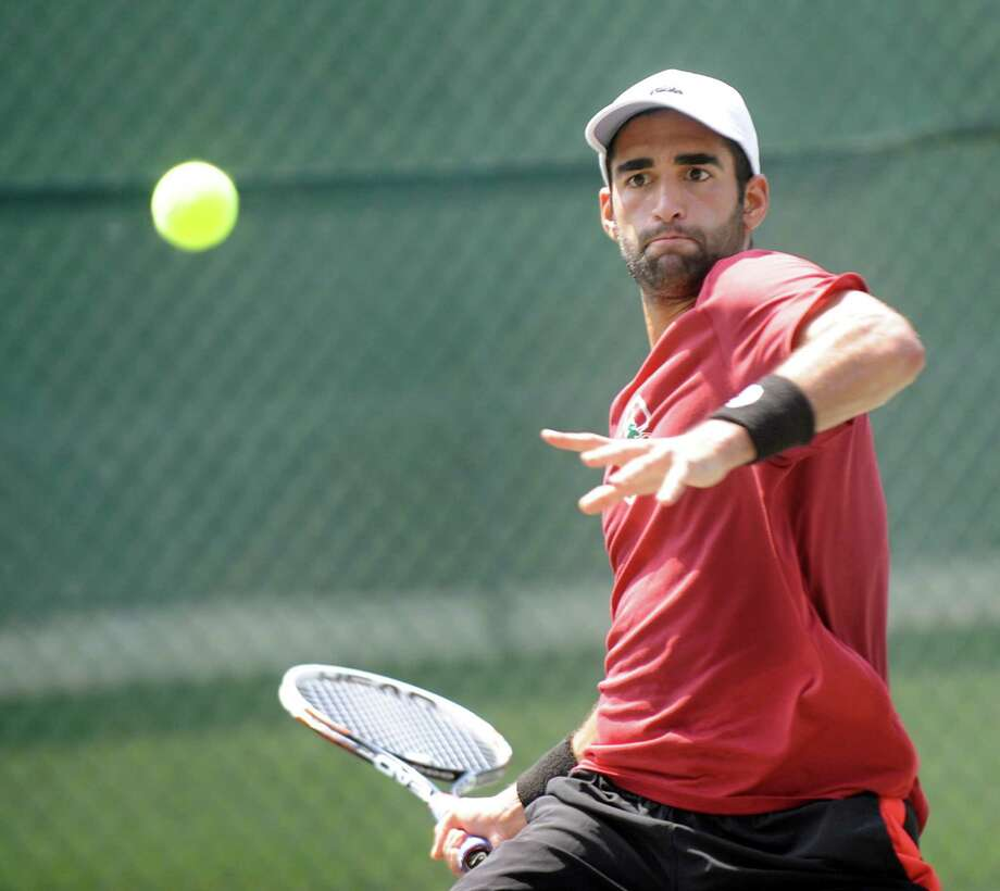 Matt Kandath, former Albany Academy tennis star, on Saturday, July 25, 2015, at the Colonie Country Club in Slingerlands, N.Y. (Cindy Schultz / Times Union) Photo: Cindy Schultz / 00032740A