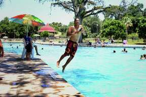 Visitors to San Pedro Springs pool on July 25, 2015, found that it is the perfect way to spend a hot San Antonio afternoon.