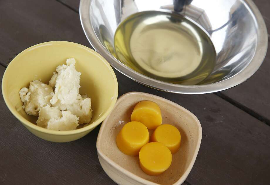 Shea butter, beeswax and a mixture of sunflower and olive oils are used for making salve at Preserved on Piedmont Avenue in Oakland. Photo: Paul Chinn, The Chronicle