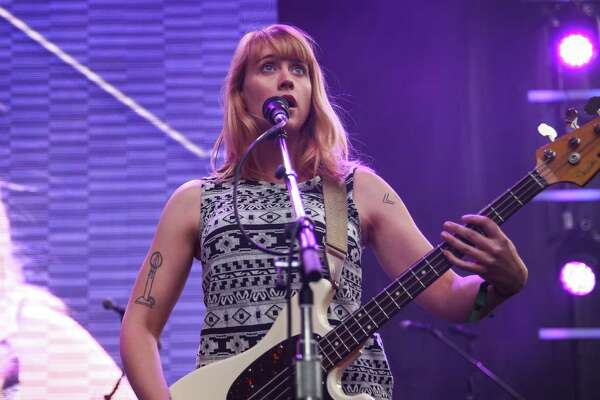 Jenn Wasner of Wye Oak performs on the main stage during day two of Capitol Hill Block Party. The three day festival brings music and tens of thousands of fans to the center of Seattle's Capitol Hill neighborhood. Photographed on Saturday, July 25, 2015.