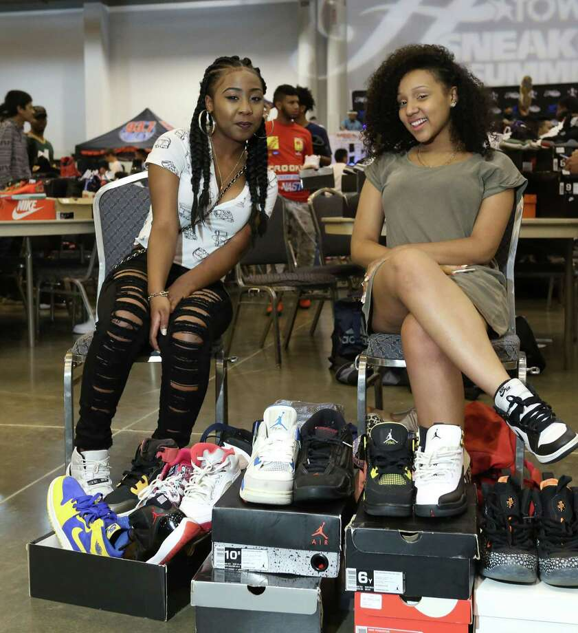 Sneaker fans pose for a photo at the 2015 H-Town Sneaker Summit at NRG Center Sunday, July 26, 2015, in Houston. Photo: Jon Shapley, Houston Chronicle / © 2015 Houston Chronicle