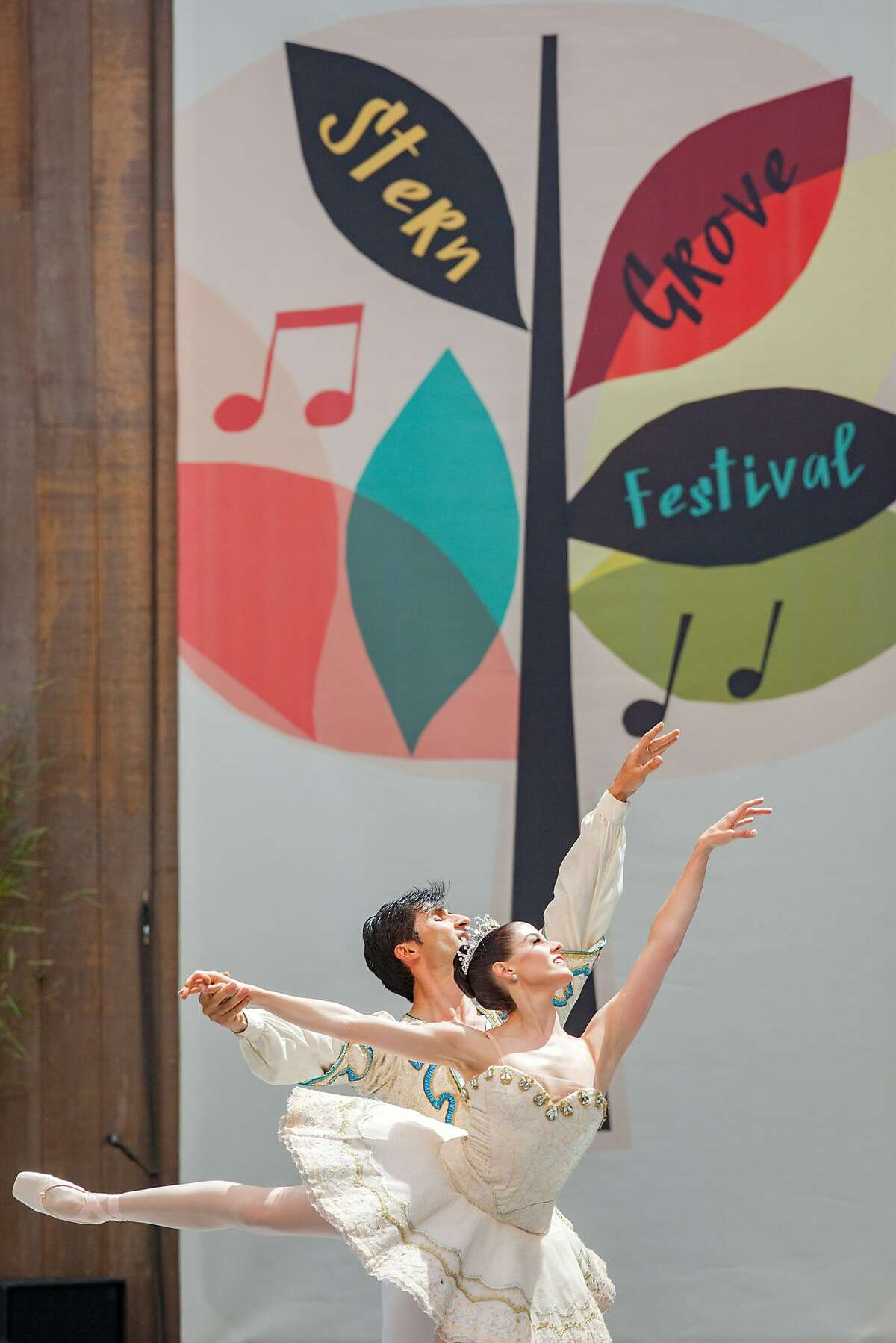 San Francisco Ballet performs during the Stern Grove Festival, Sunday, July 26, 2015, in San Francisco, Calif.