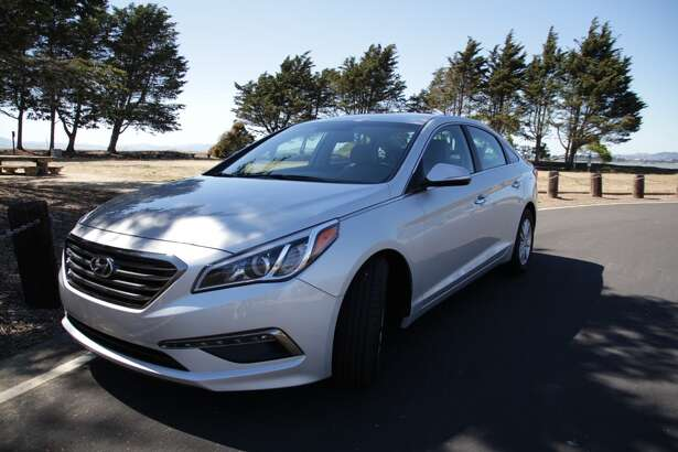 The 2015 Hyundai Sonata Eco. Its sticker price is $27,500, including a $4,100 tech package. (Photos by Michael Taylor)