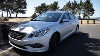 2015 Hyundai Sonata Eco — another competitor in the midsize sedan field. - Photo