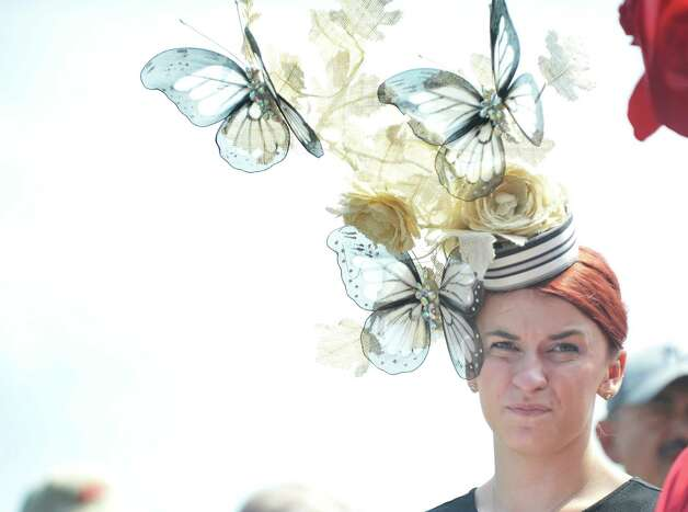 Freya Smith, from Fort Johnson, won second place in the Fashionably Saratoga category during the 24th annual Hat Contest, presented by Hat Sational by DEI at the Saratoga Race Course on Sunday, July 26, 2015, in Saratoga Springs, N.Y.  (Paul Buckowski / Times Union) Photo: PAUL BUCKOWSKI / 00032762A