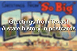Click ahead to see postcards detailing how Texas advertised its people, places, products and even wildlife in postcards, helping the legend of the Lone Star State grow even bigger in the early- to mid-20th Century.