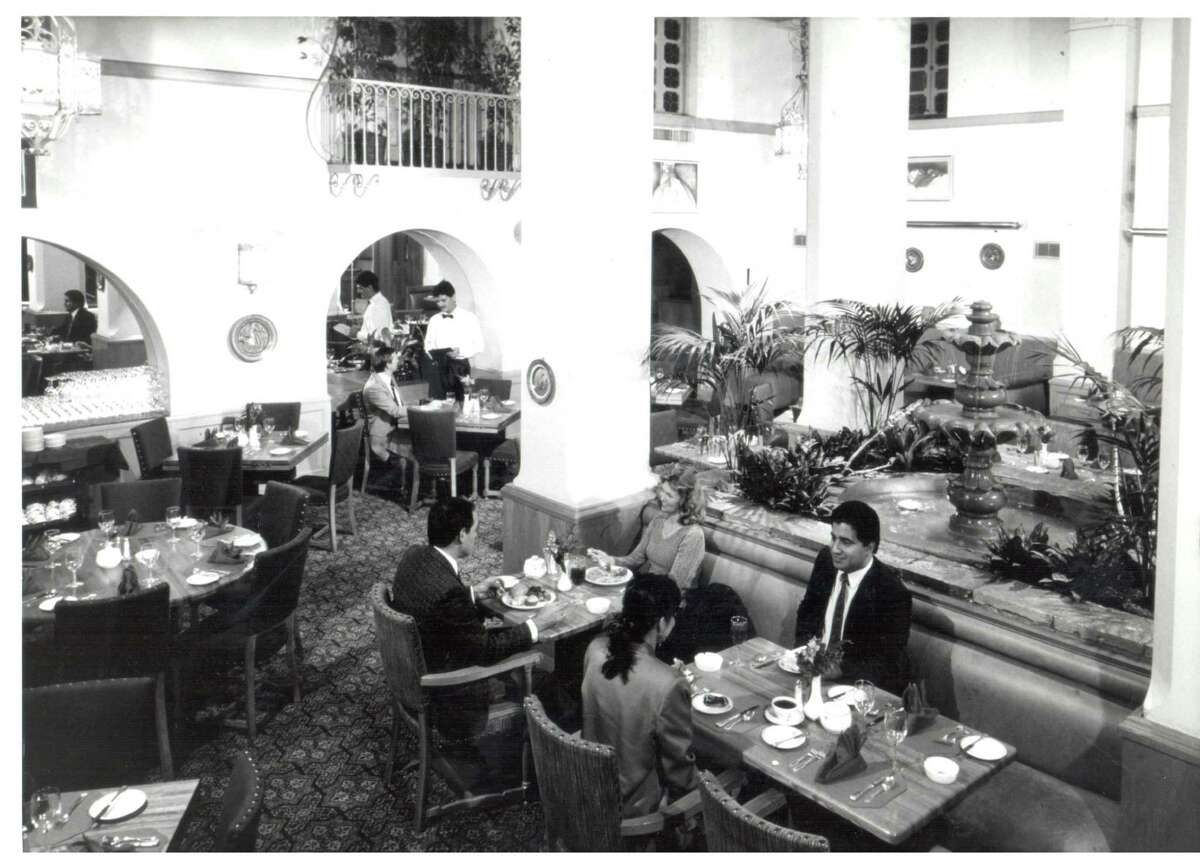 The hotel restaurant was the lavish setting for making deals and quiet lunches.