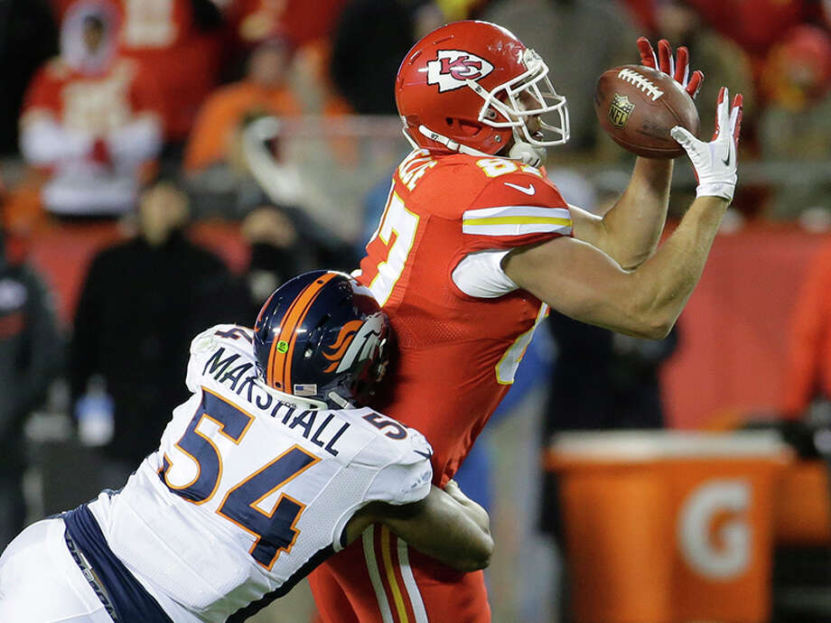 No. 5: TRAVIS KELCE (91 OVR) KANSAS CITY CHIEFS Catching: 89 Spectacular Catch: 88 Catch in Traffic: 87 Release: 88 Jumping: 89 Route Running: 81 Photo: Charlie Riedel, AP